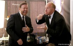 Pin for Later: Relive the Best Moments From the 2014 Emmys  Ricky Gervais and Louis C.K. joked around. Obviously.