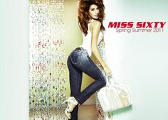 The Spring/Summer 2011 Miss Sixty ad campaign is out now and features the bodacious Argentinian actress, model and TV presenter Belen Rodriguez. Belen Rodriguez, Miss Sixty, Tv Presenters, Bell Bottom Jeans, Camisole Top, Campaign, Spring Summer, Skinny Jeans, Actresses