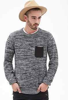 Marled Contrast-Pocket Sweater   21 MEN - 2000083362 Size: Adult Small