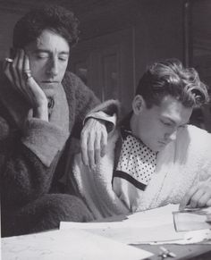 Jean Cocteau & Jean Marais