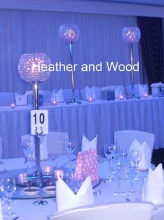 Crystal Globe HIRE Tall Candle Centerpieces 80cm/100cm