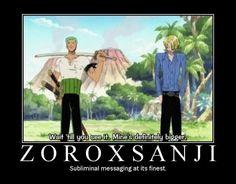 Zoro x Sanji #one piece #zosan