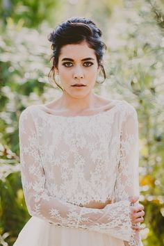 Ethereal Bridal Beauty Shoot for The Bride's Tree - smokey eye wedding makeup