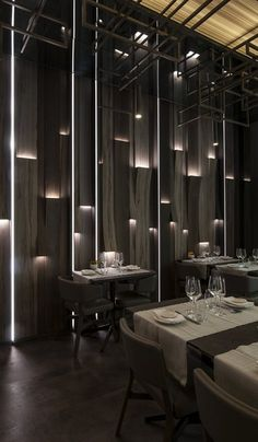 View the full picture gallery of TAIYO Sushi Lounge Luxury Restaurant, Restaurant Lighting, Bathroom Lighting Design, Interior Lighting, Restaurant Interior Design, Shop Interior Design, Nightclub Design, Lounge Design, Japanese Interior