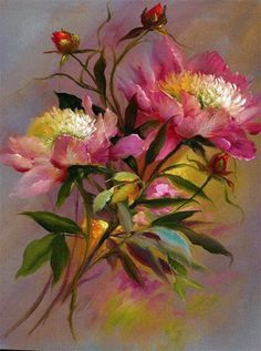 Another Gary Jenkins oil painting, the flower specialist and 'rose' painter.