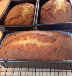 Mary Berry recipe for light banana bread. A triple batch