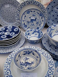 White & Blue Dishes