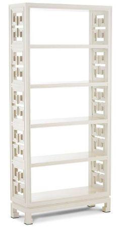 greek key bookcase