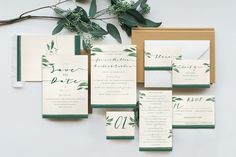 Classy Tropical Wedding Invitation by KlapauciusCo on @creativemarket