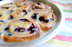 Blueberry Lemon Sweet Rolls from The Pioneer Woman (freezable)