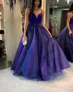 Buy Sparkly Dark Royal Blue Spaghetti Straps V Neck A line Prom Dresses, Formal Dress online.Shop short long ombre prom, homecoming, bridesmaid evening dresses at Couture Candy Cocktail party dresses, formal ball gowns in ombre colors. Straps Prom Dresses, A Line Prom Dresses, Dance Dresses, Ball Dresses, Dresses Dresses, Formal Dresses, Quinceanera Dresses, Dress Prom, Prom Dreses