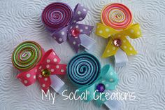 LOLLIPOP Ribbon Sculpture Hair Clip / No Slip Hair Clippie via Etsy