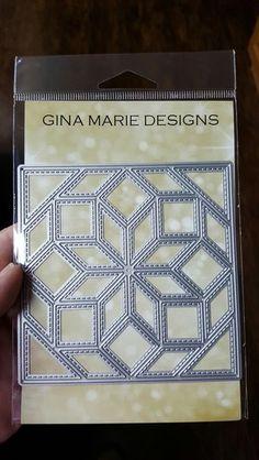 Gina Marie Designs - 4X4 Stitched Quilt Block Die - Flower Burst