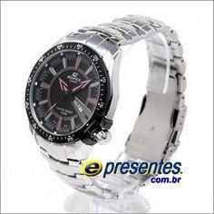 28f2ae125e7 EF-130D-1A4V Relógio CASIO Edifice Pulseira Aço Inox