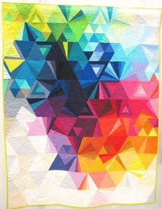 Tessellation 3 by Nydia Kehnle. Monroe, New York. Quilted by Karlee Porter.