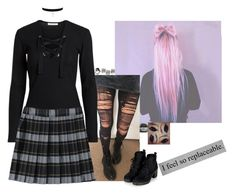 """""""""""...I'd never thought I'd feel this...guilty and broken down inside...living with myself...nothing but lies…"""" by lifesucks-musichelps ❤ liked on Polyvore featuring French Toast, MANGO and Topshop"""