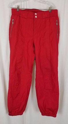 Vintage Mens Bogner Sports Insulated Winter Snow Ski SnowBoard Pants 38 Red  #Bogner