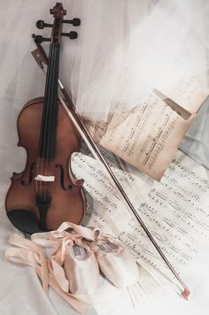 violin and ballet slippers <3