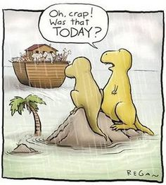 lol.... AWWWW, So THIS is why the Dinos are gone- they totally missed the bus!