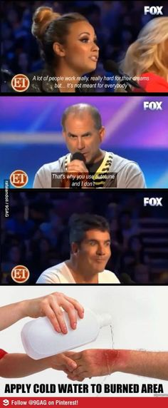 I love Demi but Simon's face XD I saw this when it happened haha
