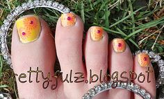 African American Pedicure | Click here to view full post with more pics & products used.