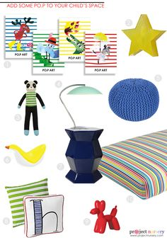 Modern Nursery Design Board inspired by PO.P Art