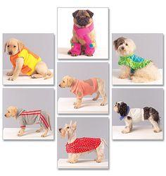 Dog Coats, Scarf and Leg Warmers