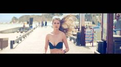 Alexandria Morgan runs strapless.  Yes! Banned in the land of the free....why...? More commercials like this please!