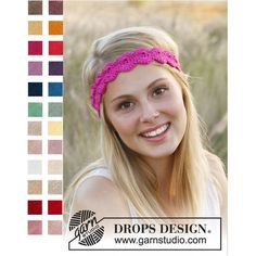 Headband cotton woman, color choice, crochet pattern shells, headband,... ($16) ❤ liked on Polyvore featuring accessories and hair accessories