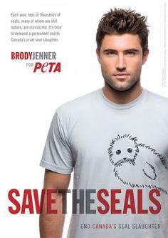 Brody Jenner: Save the Seals Brandon Jenner, Kardashian, Brody Jenner, Baby Seal, Jenner Family, Animal Activist, Awareness Campaign, Peta, Animal Rights