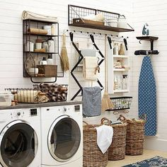 Wow ... Only to be so organised. That does not come easily to me I'm afraid. {Source A blissful nest}. #thesummerhouse #laundrylove