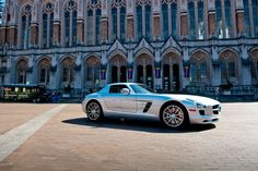 Mercedes SLS at the Red Square Car Show at UW