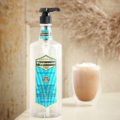 A 1-liter bottle of cool, sweet—and sugar free—peppermint syrup to flavor your coffee or mocha at home or the office.