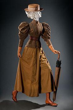 1890s Fashion, Edwardian Fashion, Vintage Fashion, Paper Dolls Clothing, Steampunk, Outdoor Girls, Fashion And Beauty Tips, Fashion Catalogue, Historical Clothing