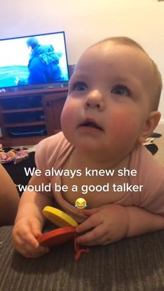 Funny baby😂  Try not to laugh🤪  We always know she would be a good talker