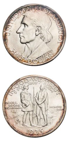 David Lawrence Rare Coins, has this item on Collectors Corner - 1935 50C Boone…