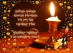 Wszystkiego najlepszego w andrzejkowy wieczór:) Candle Jars, Birthday Candles