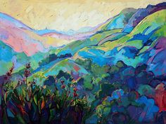Paso Robles California wine country oil painting by Erin Hanson