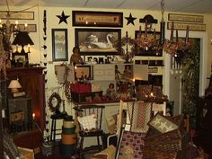 Primitive  homes | If Primitive Country is more your style...there are hatboxes, tinware ...