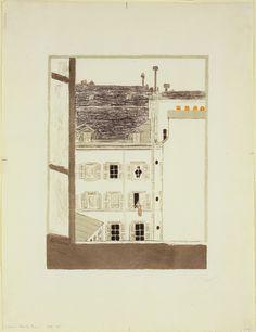 Pierre Bonnard. House in a Courtyard (Maison dans la cour). 1899