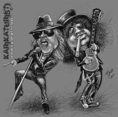 Karikaturisti: Axl Rose and Slash, Guns'n' Roses