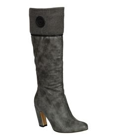 Take a look at this Gray Alta Button Boot on zulily today!