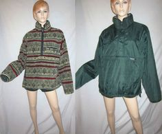 PATAGONIA Reversible Aztec Southwest Ethnic Deep Pile Fleece Pullover Jacket XL