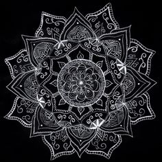 Mandala by me ♡ on We Heart It Mandala Art Lesson, Mandala Artwork, Mandala Drawing, Mandala Tattoo, Stone Art Painting, Dot Art Painting, Art Buddha, Neck Tattoo For Guys, Cool Chest Tattoos