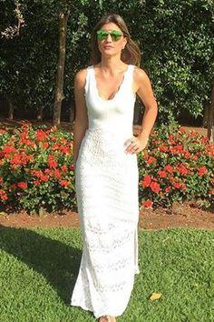 Lungă rochie Mermaid Maite alb