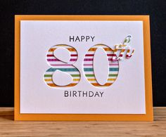 """Used a negative die cut with Papertrey's """"By The Numbers""""  & """"Suffix Style"""" die cuts, backed with patterned paper"""