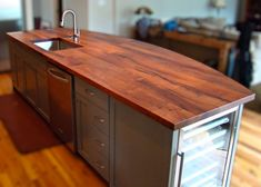 DeVos Custom Woodworking - Mesquite Wood Countertop Photo Gallery