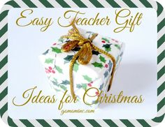 So many teachers so little time! Because we can't every do enough to support our teachers, coaches, administrators, and anyone else helping our kids at school, gifting at Christmas is a must do in our family. The reality that this list can be 20+ people long means it has to be both easy and truly special too. Easy Teacher Gift Ideas for Christmas | gomominc.com
