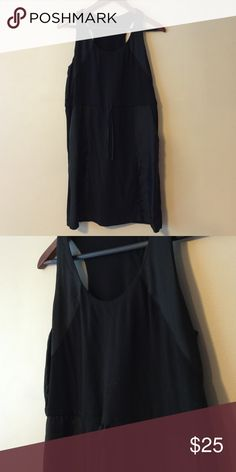 J. Crew 100% Silk/100% Cotton Racerback Dress The perfect summer dress! ⛱ Made of 100% cotton with 100% silk woven fabric panels. Super breathable and comfy with an adjustable drawstring waist. Gently worn with no rips/stains/etc. Comes from a smoke free home. J. Crew Dresses Mini