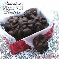 Chocolate Mixed Nut Clusters ~ so easy and perfect for holiday gifts! Butter with a Side of Bread